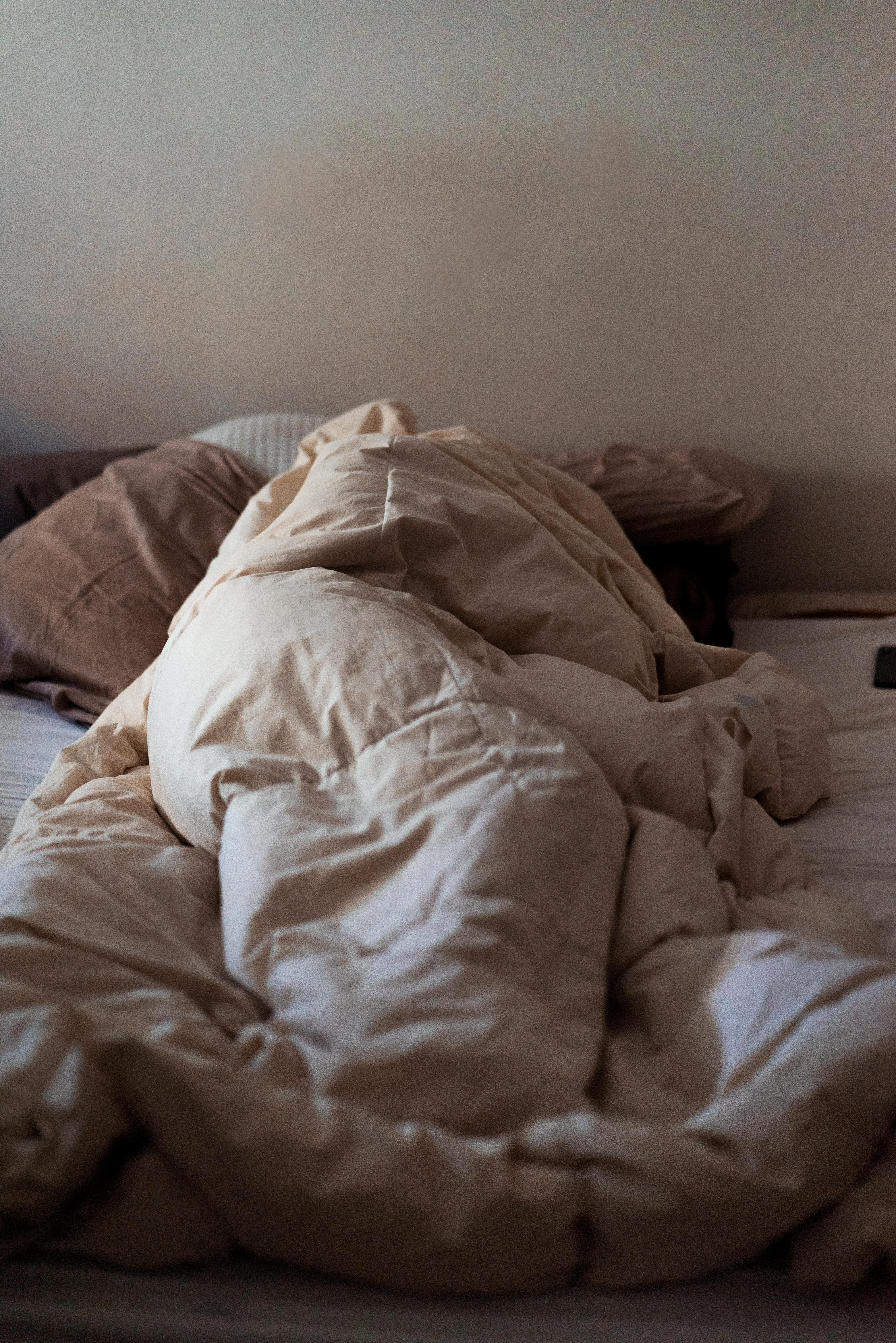 a person sleeping. effects of excessive working
