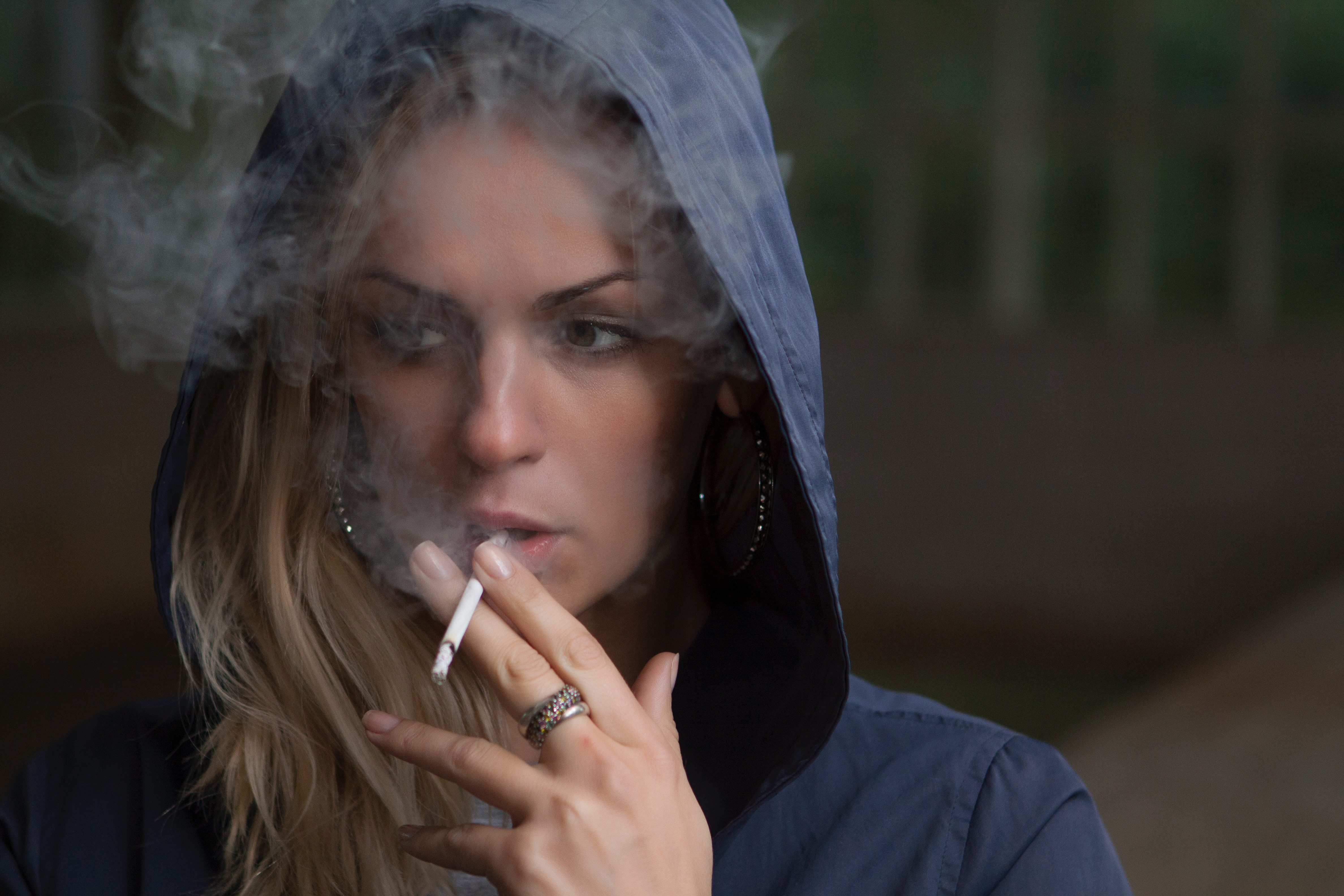 girl smoking effect of excessive working